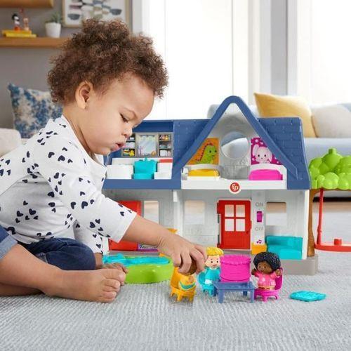 Fisher-Price - Maison Little People, coffret avec contenu d'Éveil Progressif - Jouet d'éveil 1er âge - Des 12 mois - Photo n°3; ?>
