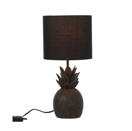 Lampe de table ananas résine marron Narsh - Photo n°2; ?>