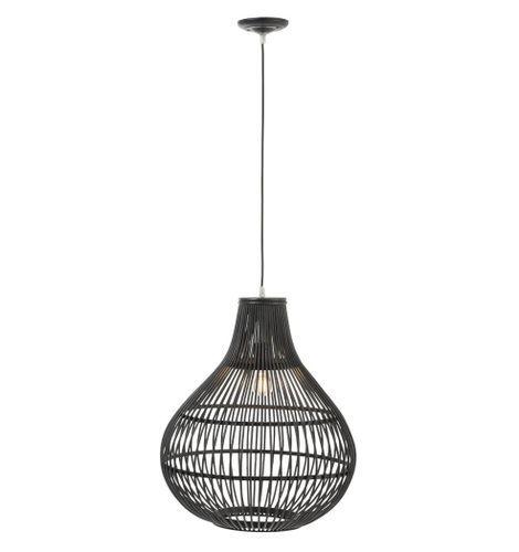 Lampe suspension bambou noir Narsh - Lot de 2 - Photo n°2; ?>