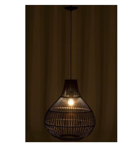 Lampe suspension bambou noir Narsh - Lot de 2 - Photo n°3; ?>