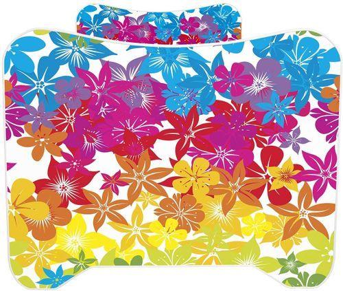 Lit enfant avec matelas Fleurs 70x140 cm - Photo n°3; ?>