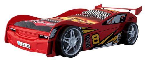 Lit voiture rouge Race 90x200 cm - Photo n°3; ?>