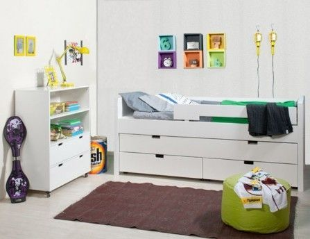 Meuble de rangement enfant 2 étagères 2 tiroirs Mixu - Photo n°3; ?>