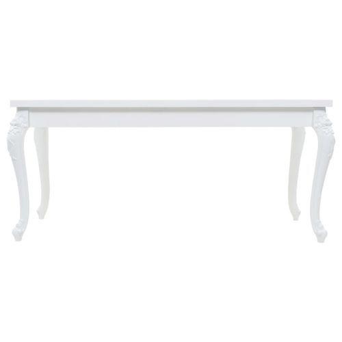 Table à manger rectangulaire blanc brillant Brack 180 - Photo n°2; ?>