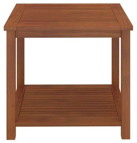 Table d'appoint carrée acacia massif foncé Klover - Photo n°2; ?>