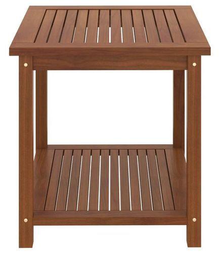 Table d'appoint carrée acacia massif foncé Klover - Photo n°3; ?>