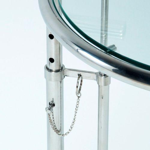 Table d'appoint verre trempé et métal chromé Junie - Photo n°3; ?>