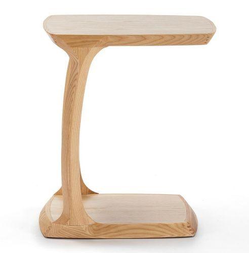Table de chevet bois massif clair Cristie - Photo n°2; ?>