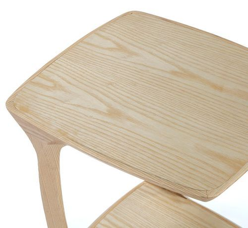 Table de chevet bois massif clair Cristie - Photo n°3; ?>