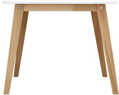 Table de jeu carrée blanche et pieds hêtre clair Ivar - Photo n°2; ?>