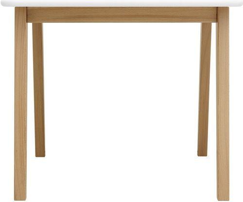 Table de jeu carrée blanche et pieds hêtre clair Ivar - Photo n°3; ?>