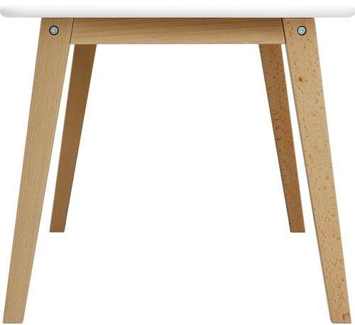 Table de jeu rectangulaire blanche et pieds hêtre clair Ivar - Photo n°3; ?>