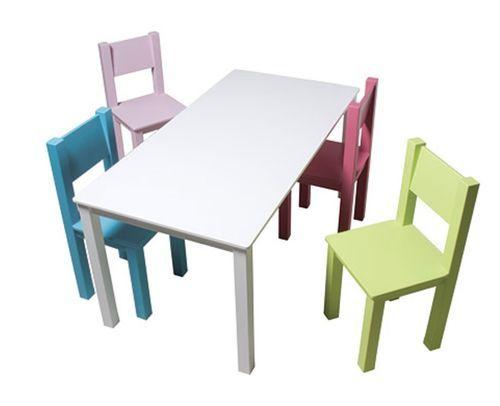 Table de jeu rectangulaire enfant bois laqué blanc Mix & Match 110 - Photo n°2; ?>