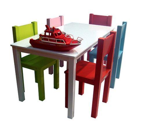 Table de jeu rectangulaire enfant bois laqué blanc Mix & Match 110 - Photo n°3; ?>