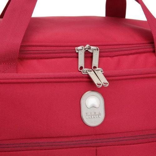 VISA DELSEY Sac de Voyage Weekend Souple 50cm PIN UP5 Rouge - Photo n°3; ?>
