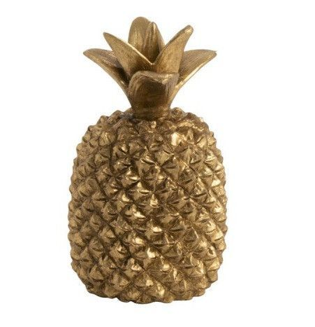 Ananas résine dorée Narsh - Lot de 4 - Photo n°1