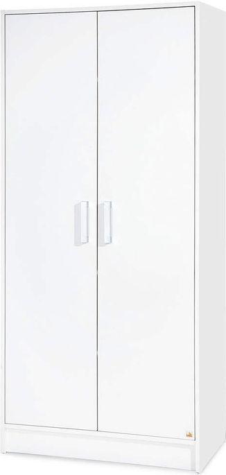 Armoire bébé 2 portes bois blanc Viktoria - Photo n°1