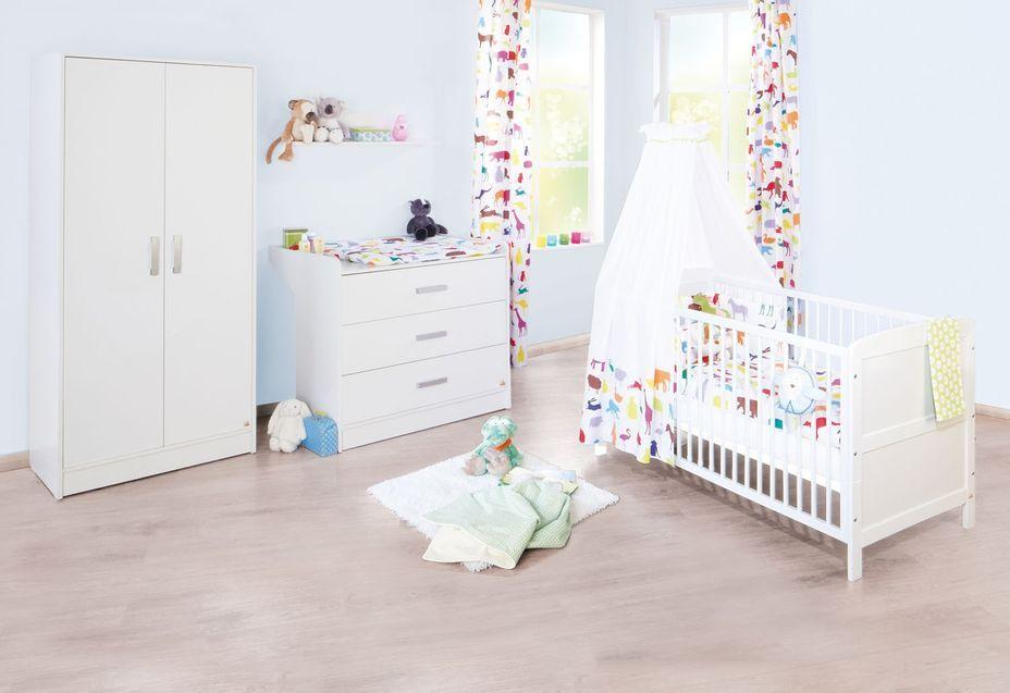 Armoire bébé 2 portes bois blanc Viktoria - Photo n°4