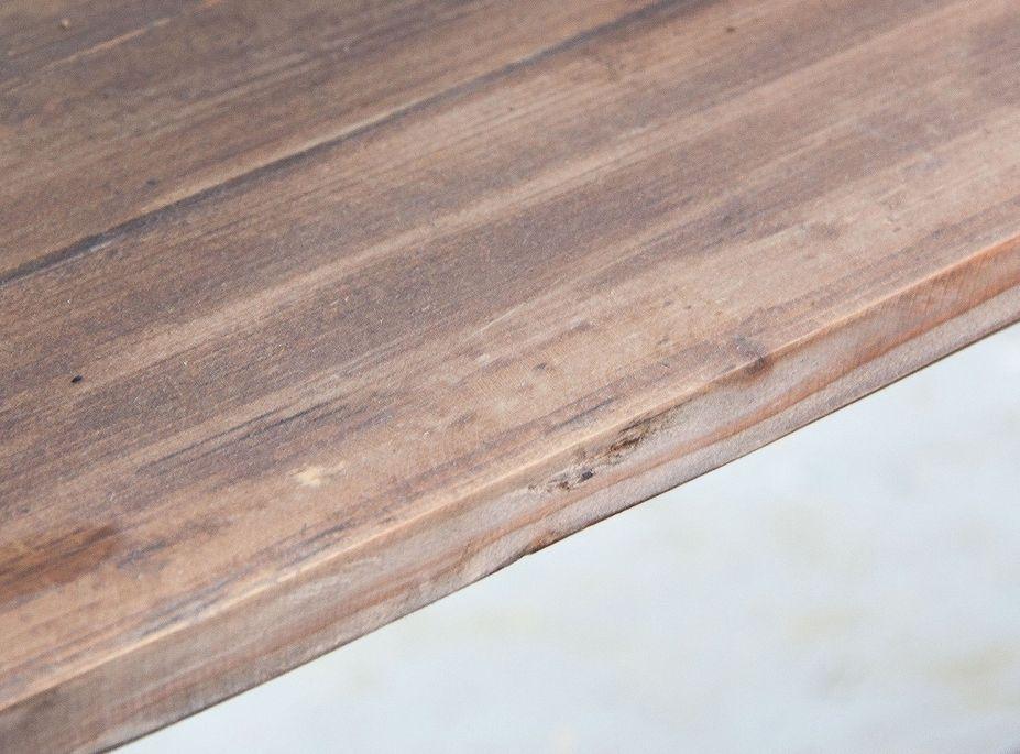 Bibliothèque industrielle 5 étagères bois de Pin massif et acier noir Stone 180 cm - Photo n°4