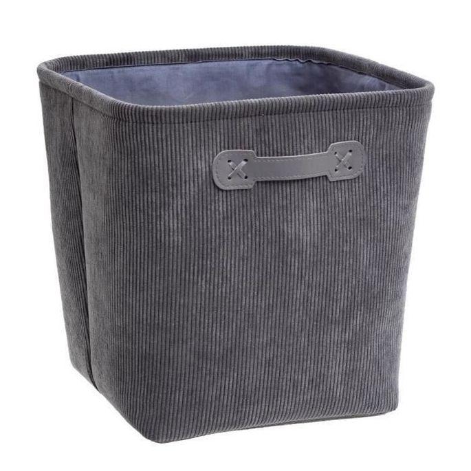 Boîte de rangement 31x31 cm - Velours Gris - Photo n°1