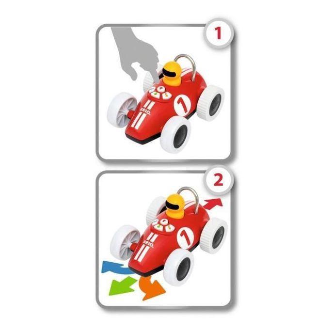 Brio Voiture de course Play & Learn - Boutons directionnels - Jouet d'éveil Premier âge - Ravensburger - Des 18 mois - 30234 - Photo n°2