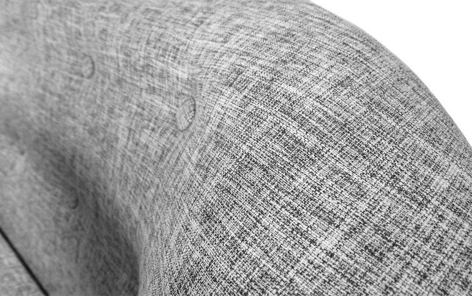 Canapé 2 places tissu gris clair et pieds bois noir Lalis - Photo n°5