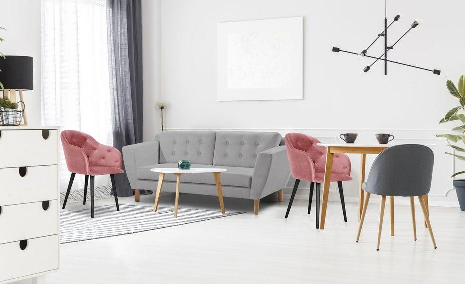 Canapé scandinave 3 places tissu gris Mondo - Photo n°2