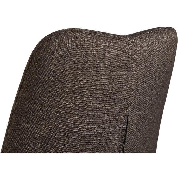 Chaise tissu marron et pieds métal noir Chika - Lot de 2 - Photo n°5