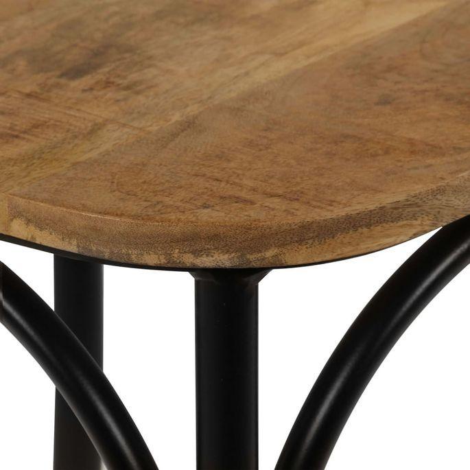 Chaise bois de manguier massif et acier noir Tiphen - Lot de 2 - Photo n°6