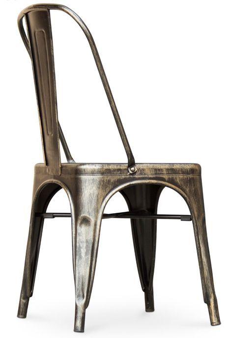 Chaise métal bronze metallic brillant - Photo n°4