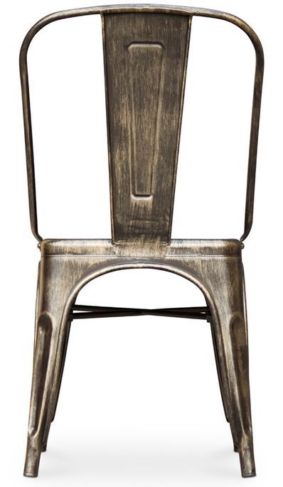 Chaise métal bronze metallic brillant - Photo n°5