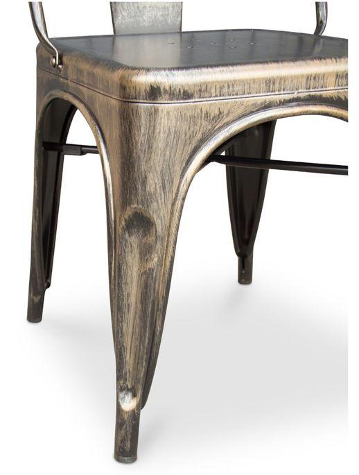Chaise métal bronze metallic brillant - Photo n°6