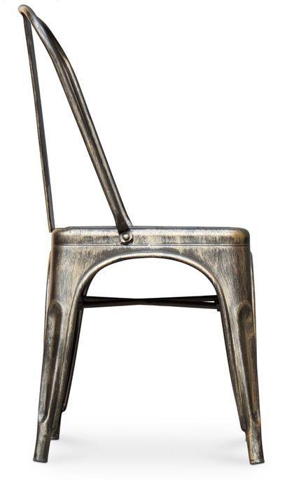Chaise métal bronze metallic brillant - Photo n°7