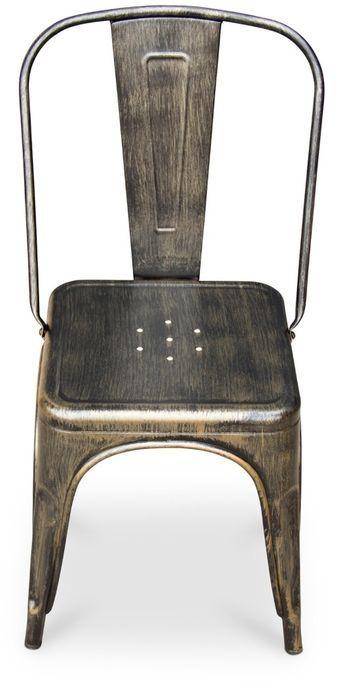 Chaise métal bronze metallic brillant - Photo n°8