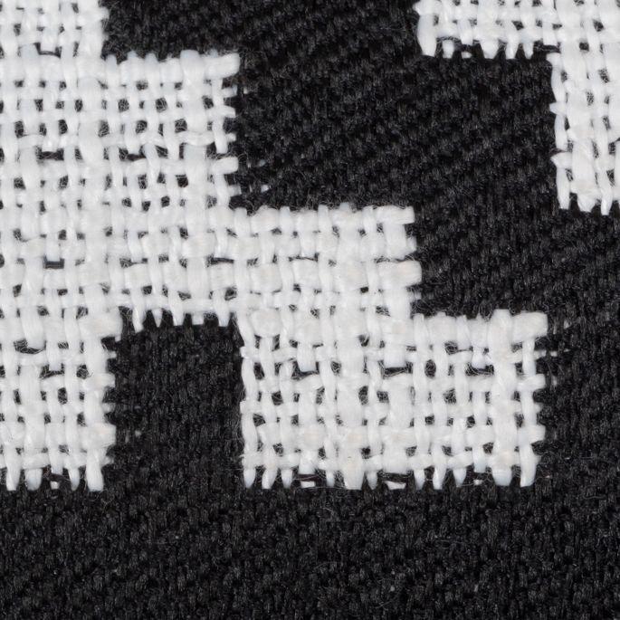 Chaise patchwork noir et blanc et pieds hêtre naturel Coki - Photo n°5