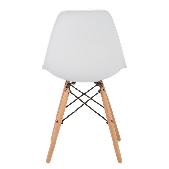 Chaise scandinave blanche et bois naturel Bristol - Photo n°3