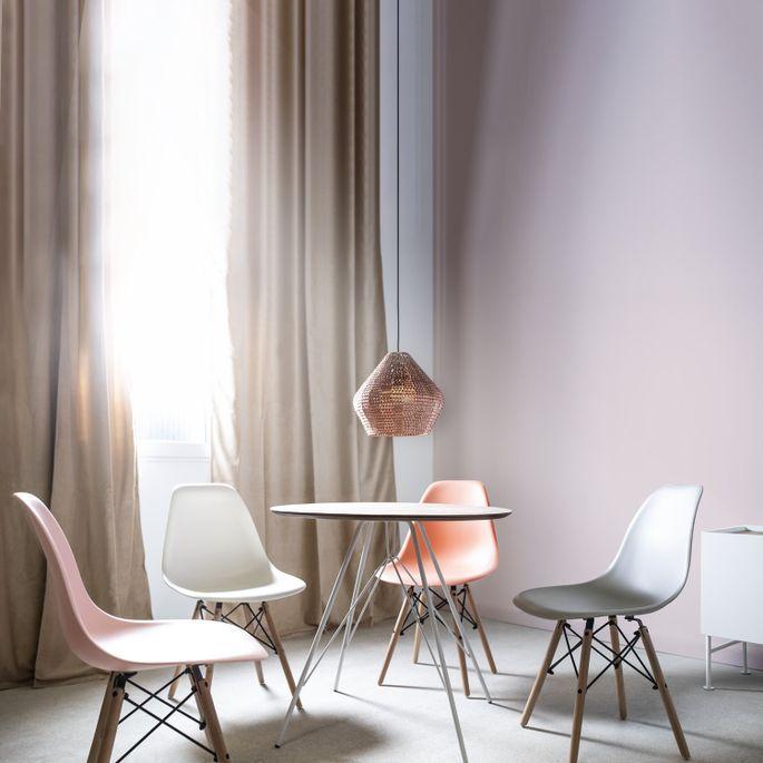 Chaise scandinave blanche et bois naturel Bristol - Photo n°5