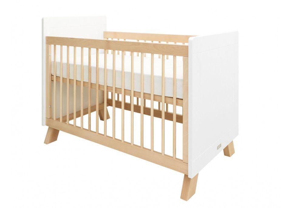 Chambre bébé 3 pièces hêtre massif clair et blanc Lisa - Photo n°3