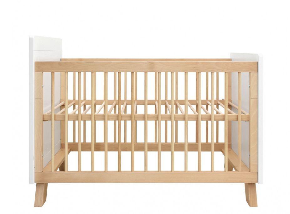 Chambre bébé 3 pièces hêtre massif clair et blanc Lisa - Photo n°4