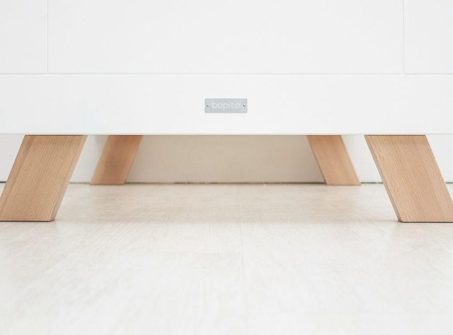 Chambre bébé 3 pièces hêtre massif clair et blanc Lisa - Photo n°5