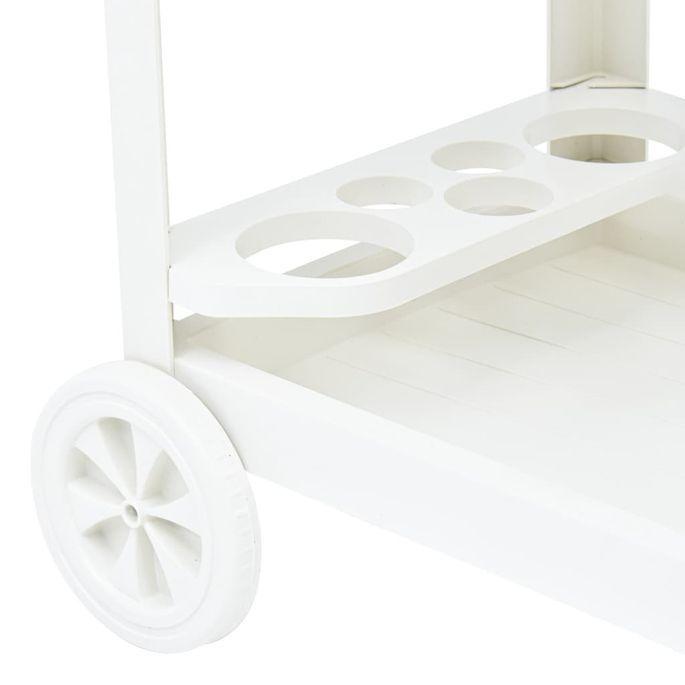 Chariot à boissons Blanc 69x53x72 cm Plastique - Photo n°6