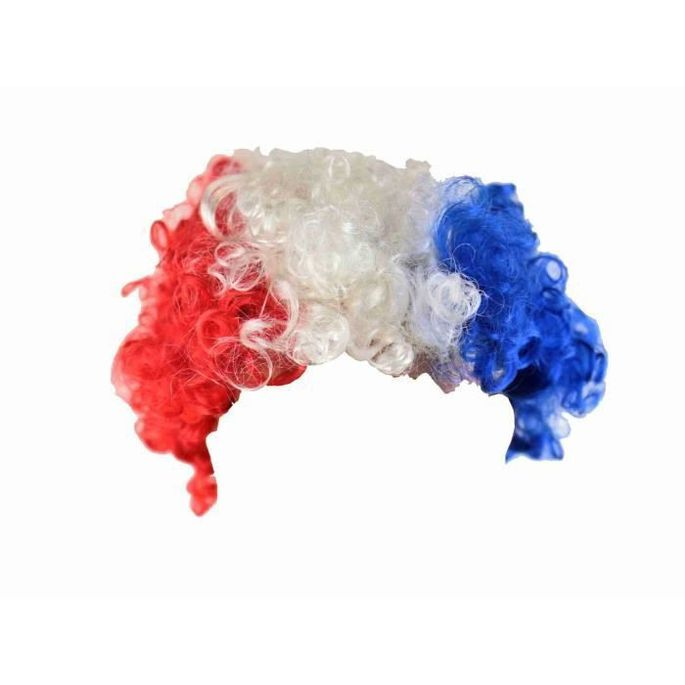 CHRONOSPORT Perruque frisée supporter France - Photo n°1