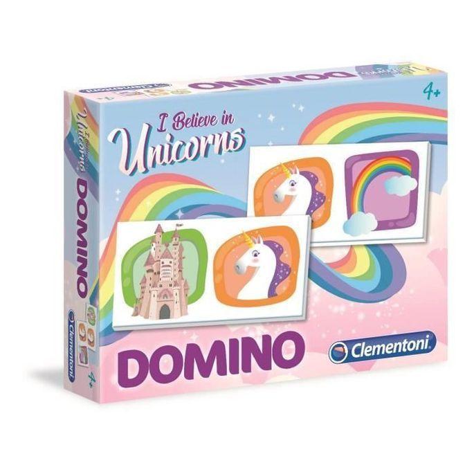 CLEMENTONI Domino - Licornes - Jeu éducatif - Photo n°1