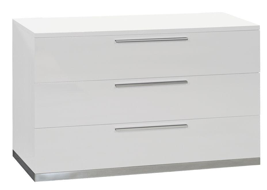 Commode 3 tiroirs bois laqué blanc Italya - Photo n°1