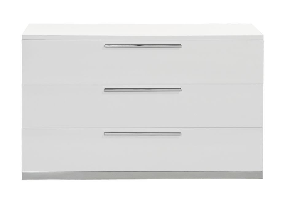 Commode 3 tiroirs bois laqué blanc Italya - Photo n°2