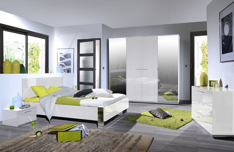 Commode 3 tiroirs bois laqué blanc Italya - Photo n°3
