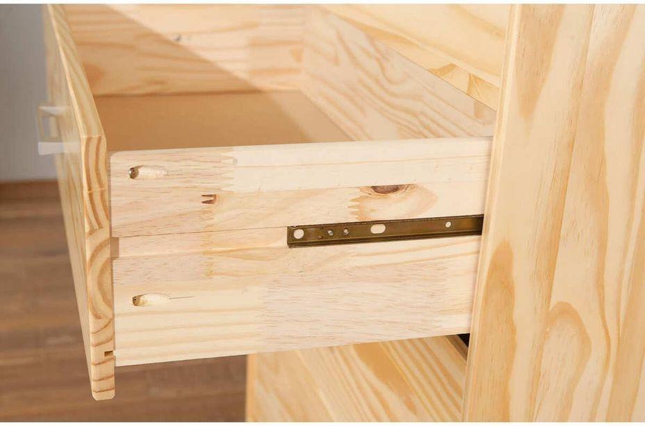 Commode 3 tiroirs pin massif clair Jersa - Photo n°6