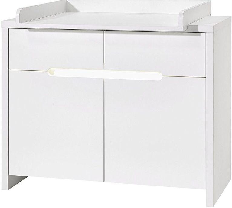 Commode à langer 2 tiroirs blanc Poppy White - Photo n°1