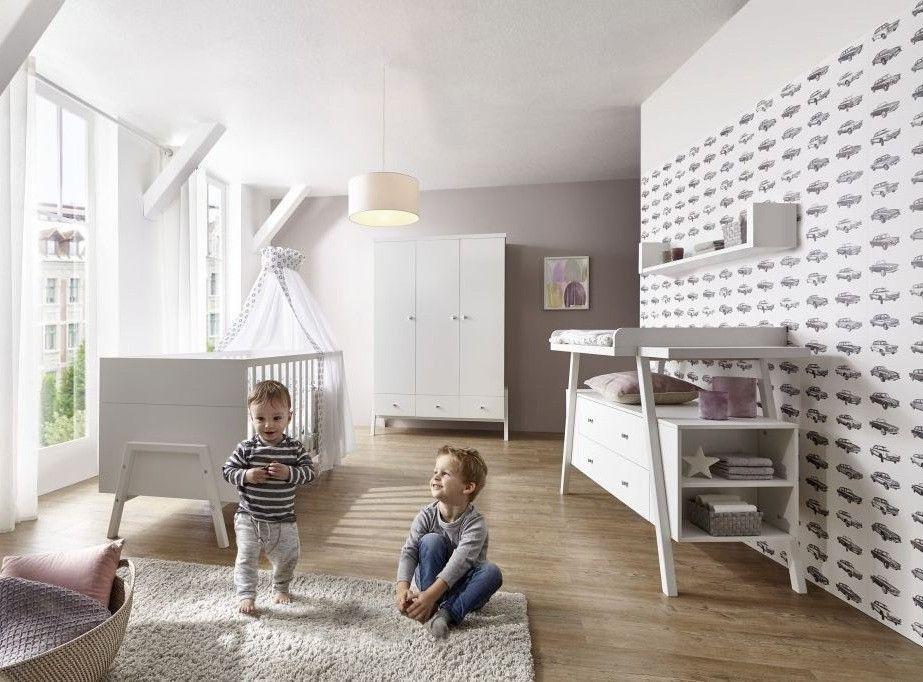 Commode avec plan à langer 2 tiroirs bois laqué blanc Holly White - Photo n°3