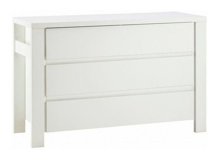 Commode avec plan à langer 3 tiroirs laqué blanc Milano White 139 cm - Photo n°2